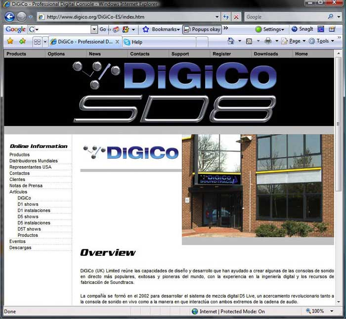 DiGiCo Launches Spanish Website