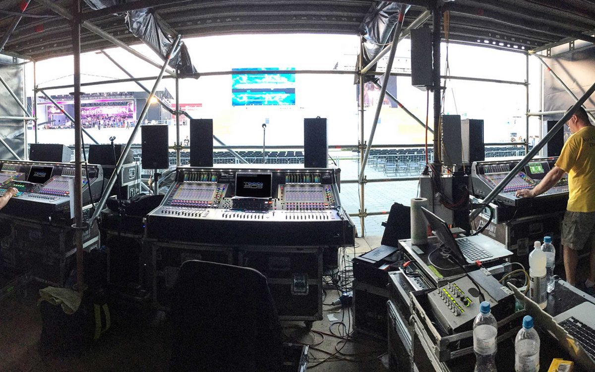 DiGiCo SD5s Control Main Stage Audio At World Youth Day In Poland