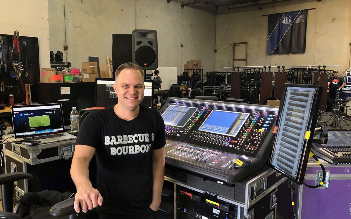 DiGiCo SD12 Backs Cash Campbell Tour With Sterling Feature Set