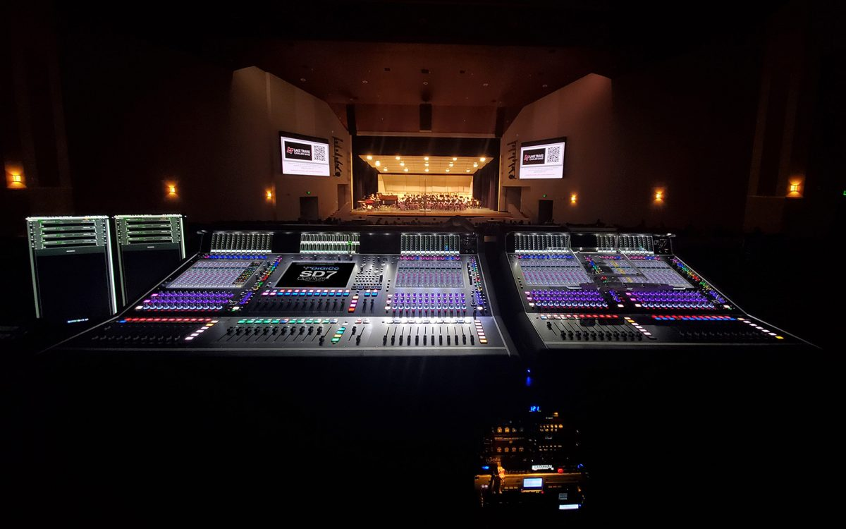 Lake Travis ISD Performing Arts Center's Three DiGiCo Desks