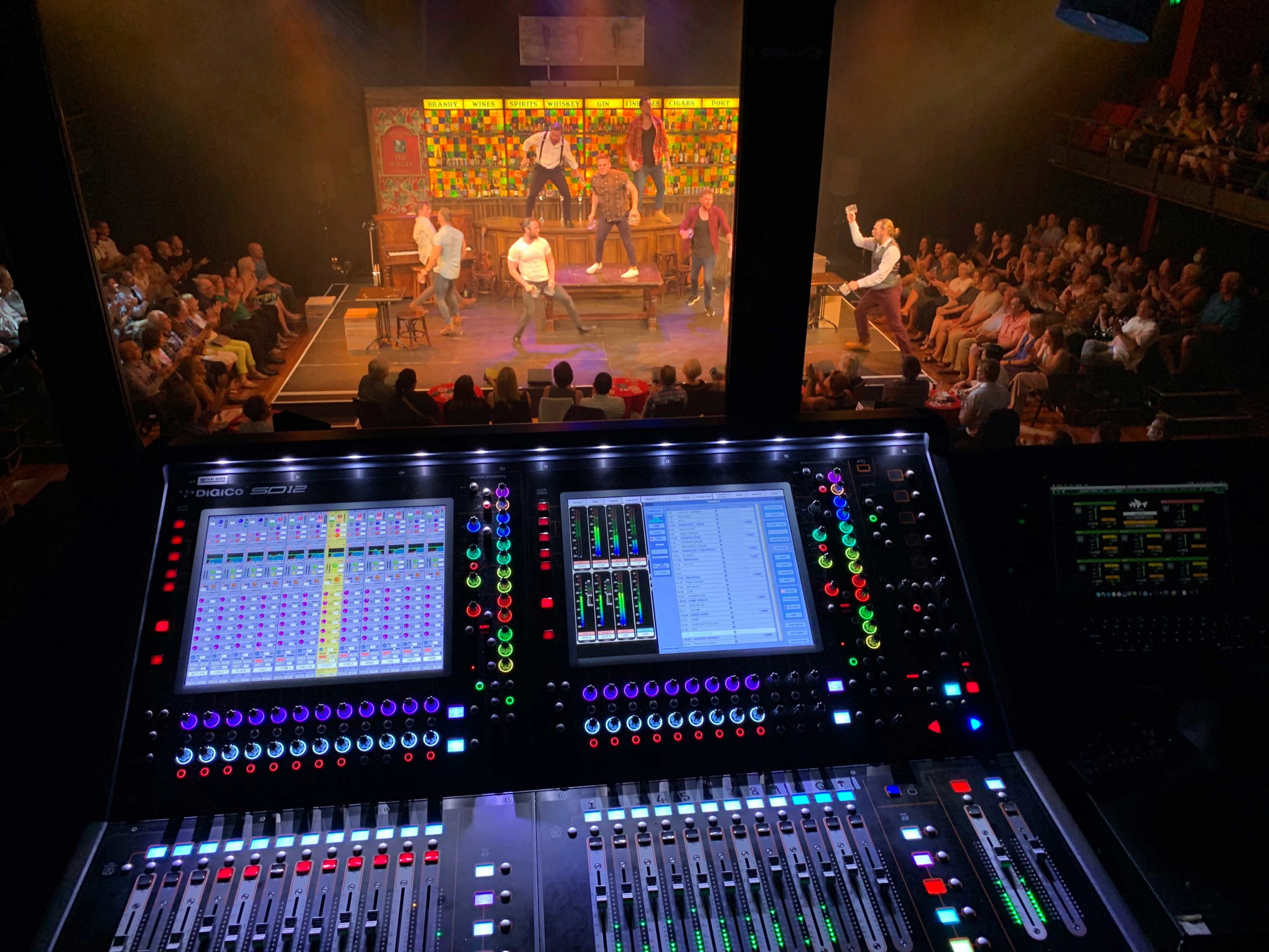 Optical Audio Productions tours DiGiCo SD12 with The Choir of Man