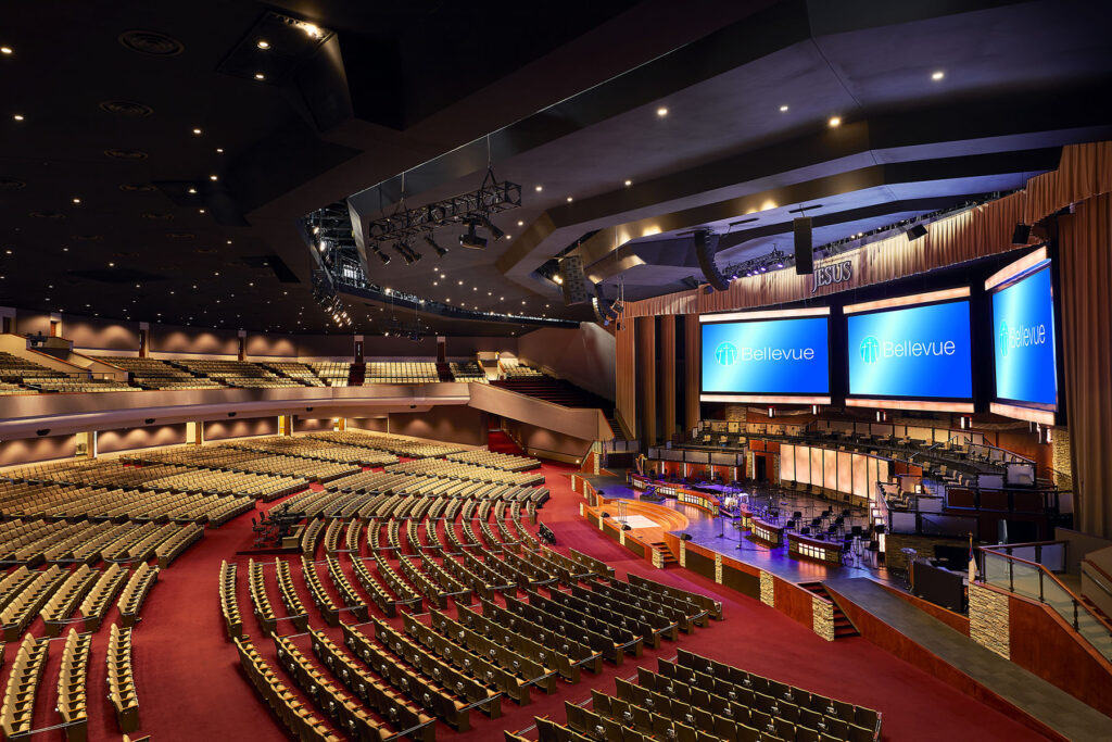 Bellevue Baptist Church's 6,800-seat main sanctuary is now home to three DiGiCo Quantum7 mixing consoles