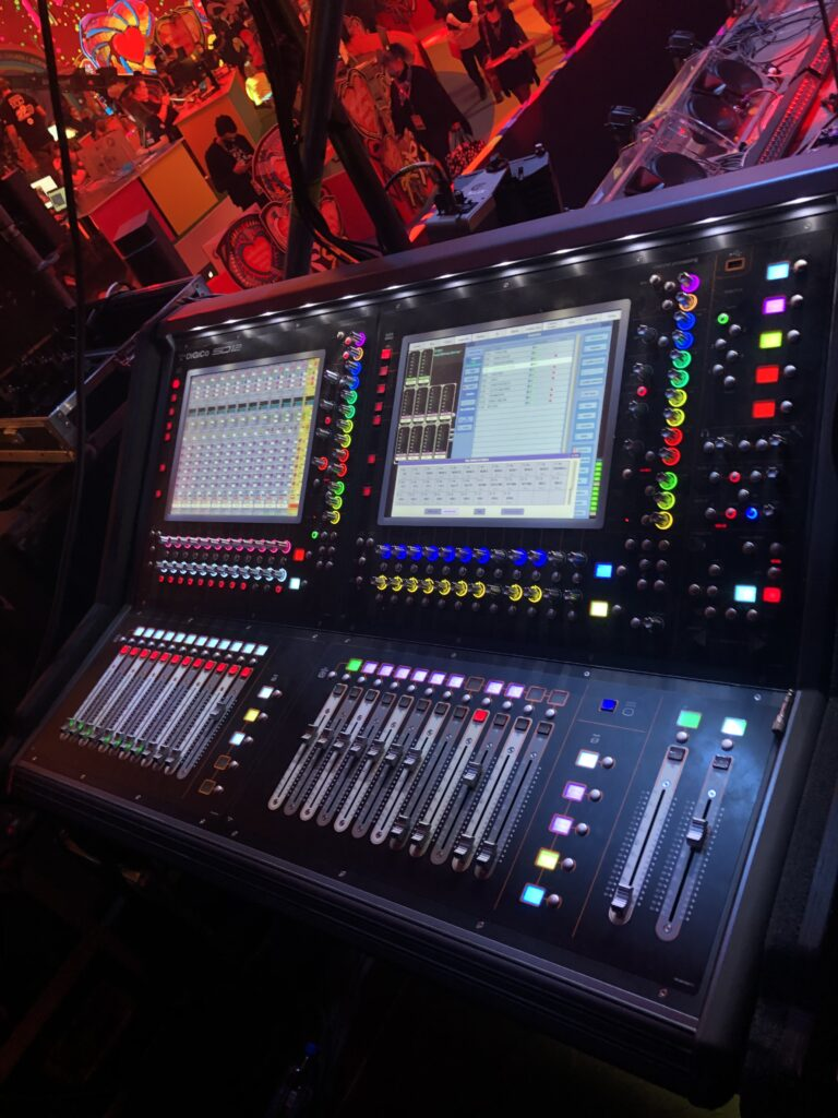 Gigant Sound's SD12 at the monitor position for the main stage in Warsaw