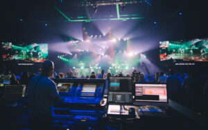 Las Vegas' Central Church now has three new DiGiCo Quantum338 consoles—FOH (shown), monitors, and broadcast—supplied by Spectrum Sound of Nashville