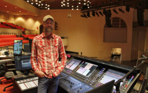 CCBC Technical Director Rob Wimberly at the church's Quantum338 desk